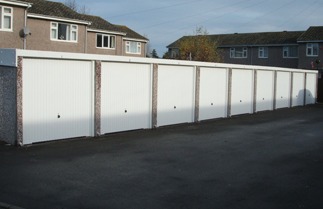 New Battery Garages with White Fascias
